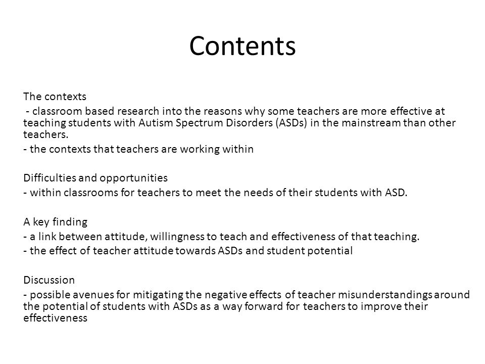 Understanding leading to appreciation When teachers understand why a student with ASD says and does the things that they are doing they are more likely to appreciate the student's struggles and gifts.