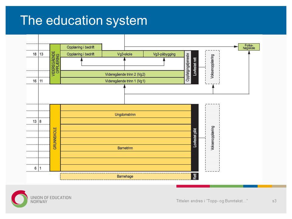 The education system Tittelen endres i Topp- og Bunntekst... s3
