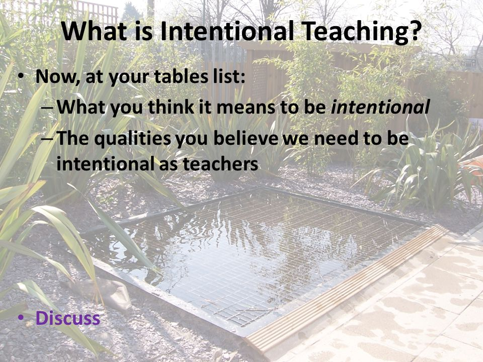 What is Intentional Teaching.