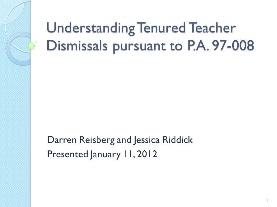Understanding Tenured Teacher Dismissals pursuant to P.A.