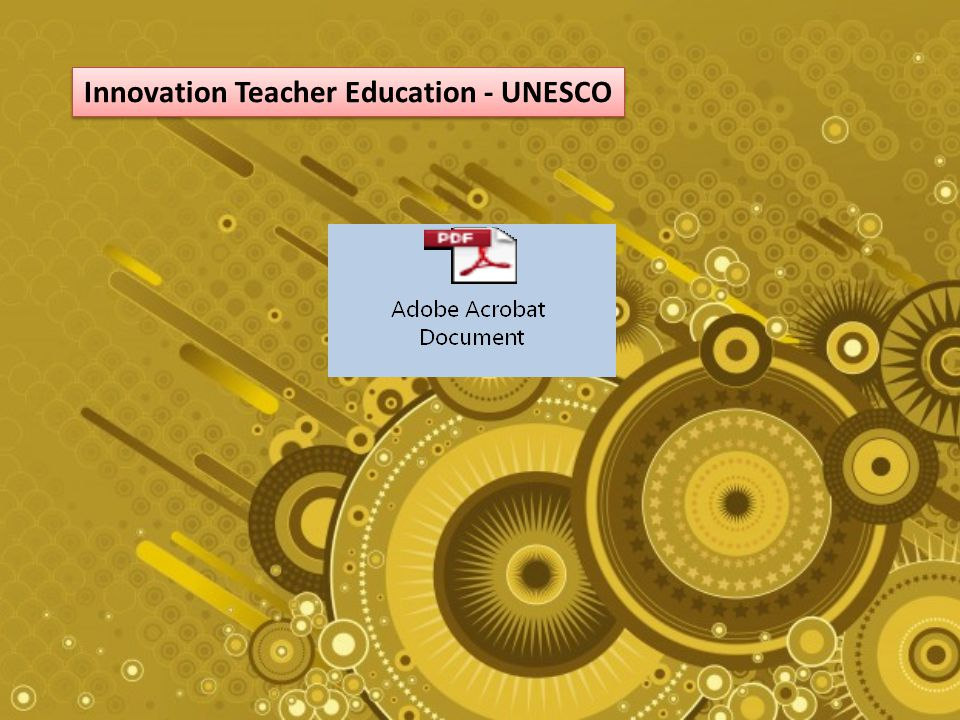 Innovation Teacher Education - UNESCO