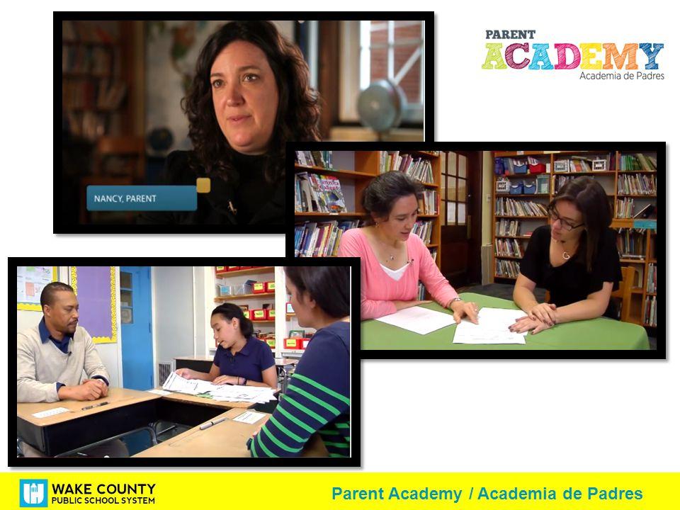 Parent Academy / Academia de Padres