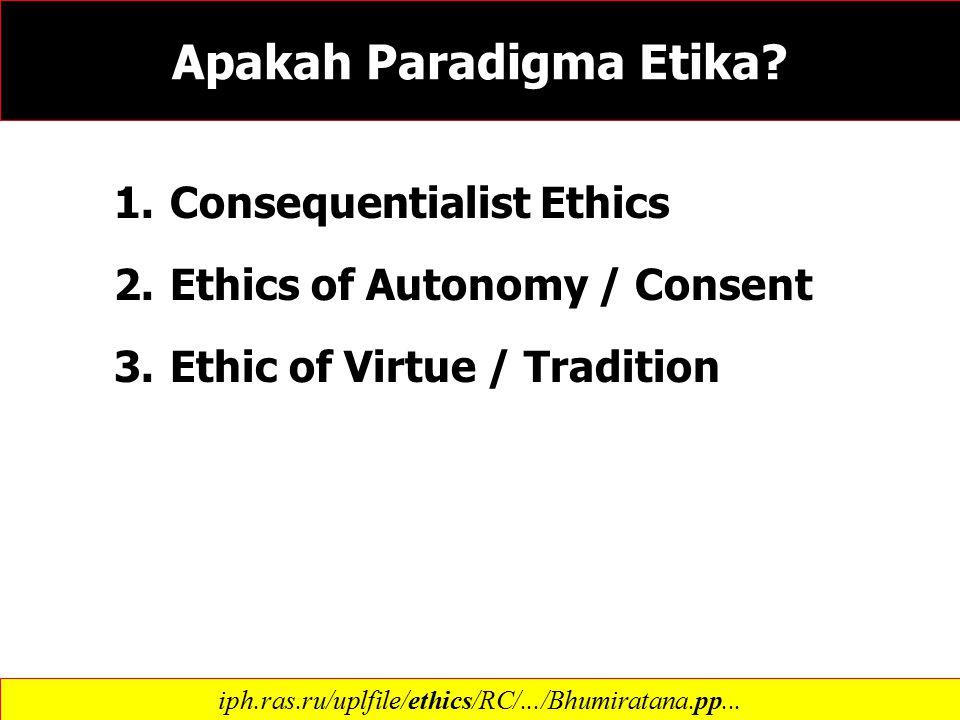 Apakah Paradigma Etika.