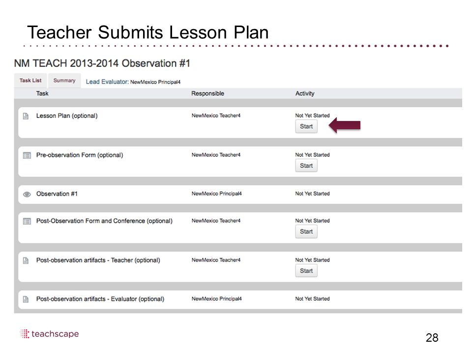 28 Teacher Submits Lesson Plan