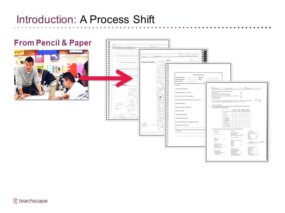 From Pencil & Paper Introduction: A Process Shift