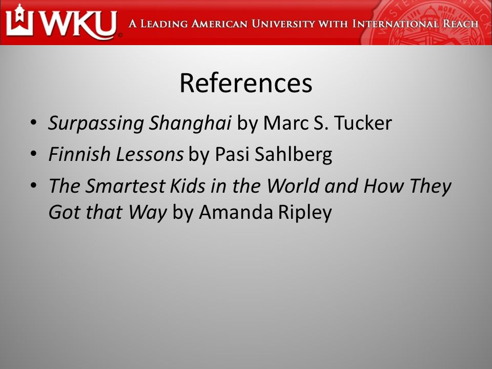 References Surpassing Shanghai by Marc S.