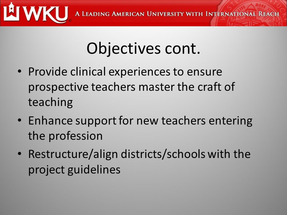 Design of Vanguard Project Raise higher education standards/match with measures to professionalize teaching in schools Rely on volunteer consortia State will offer help – Raising money – Relief from regulation – Technical assistance Competition against criteria, not each other