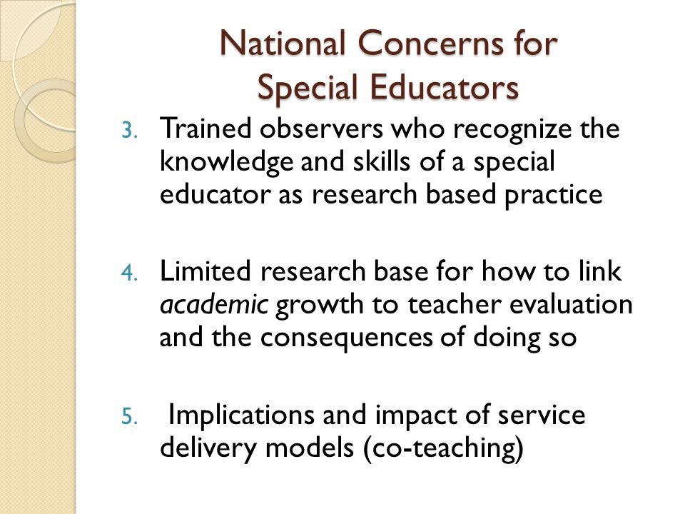 National Concerns for Special Educators 3.