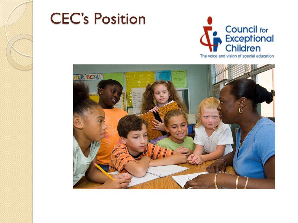 CEC's Position