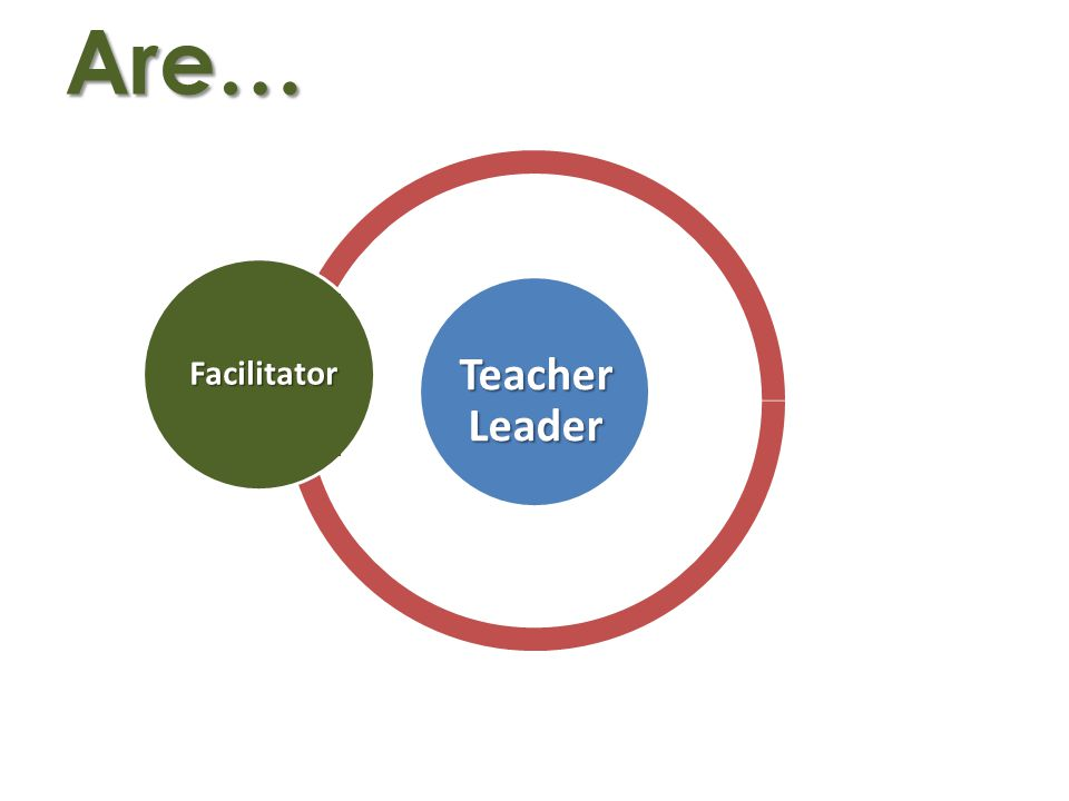 Are…Facilitator Teacher Leader