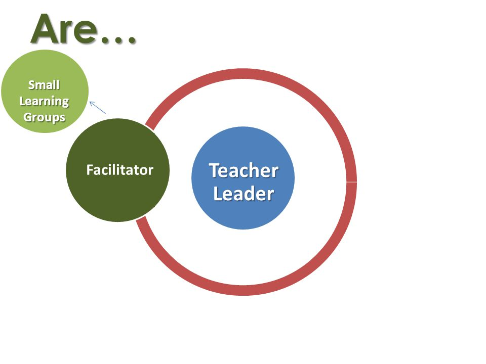Are… Facilitator Small Learning Groups Teacher Leader