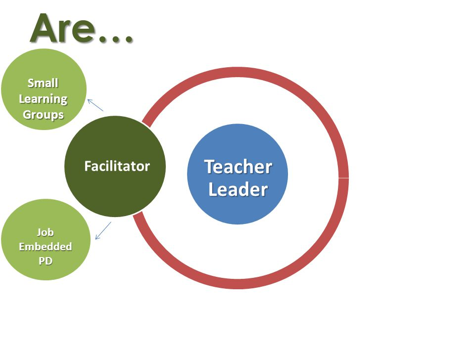 Are… Facilitator Small Learning Groups Job Embedded PD Teacher Leader