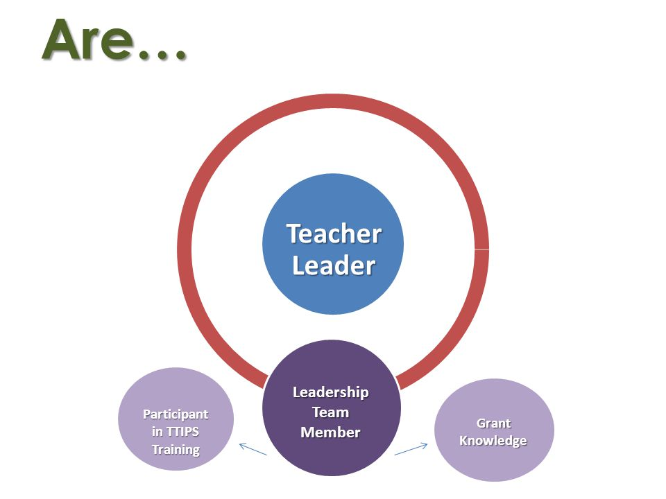 Are… Teacher Leader Leadership Team Member Participant in TTIPS Training GrantKnowledge