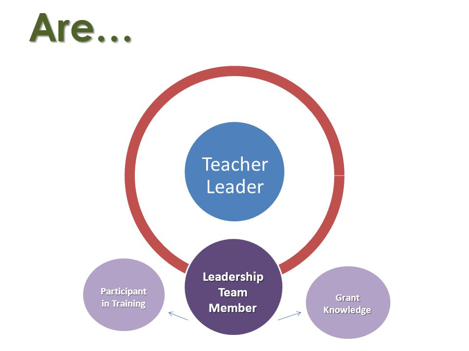 Are… Teacher Leader Leadership Team Member Participant in Training GrantKnowledge