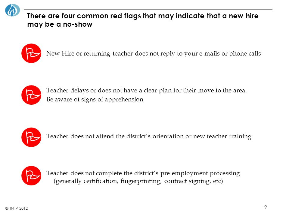 20 © TNTP 2012 School-site orientation (cont.) Who should I talk to if I have instructional challenges.