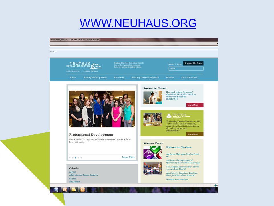 WWW.NEUHAUS.ORG
