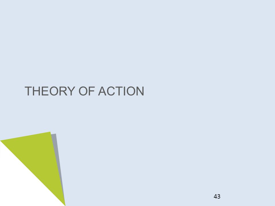 THEORY OF ACTION 43