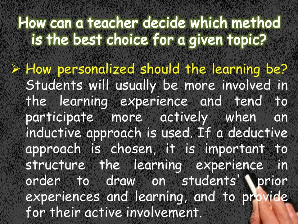  How personalized should the learning be.