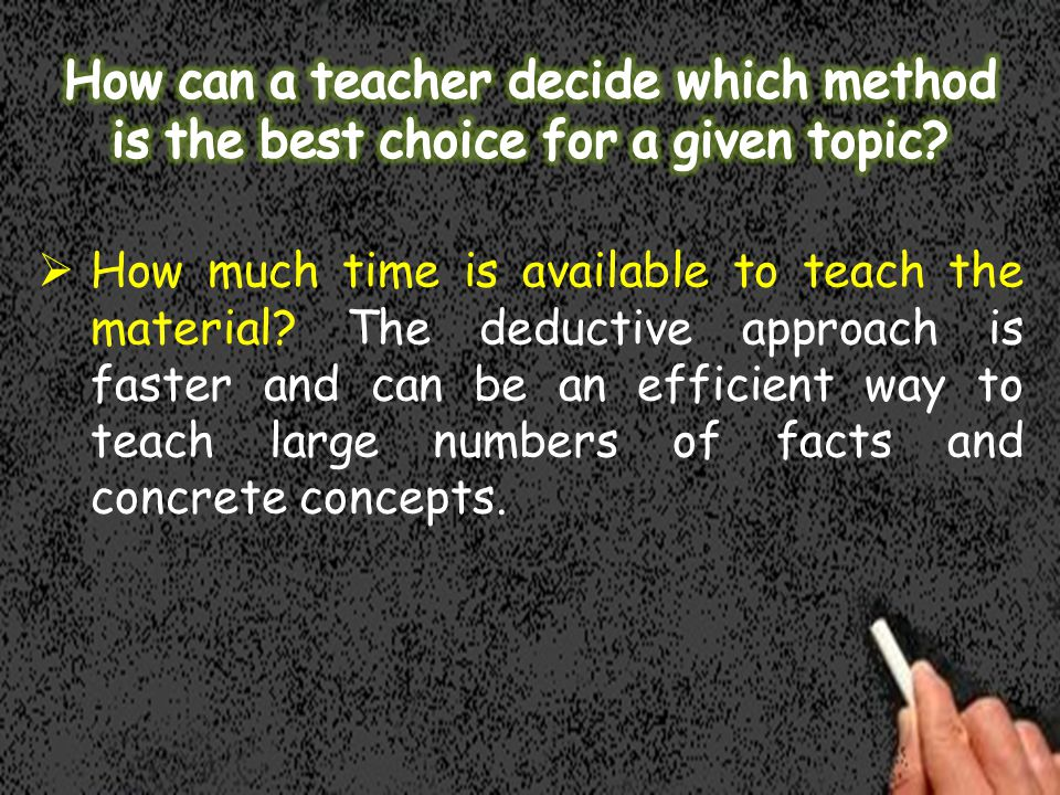 How much time is available to teach the material.