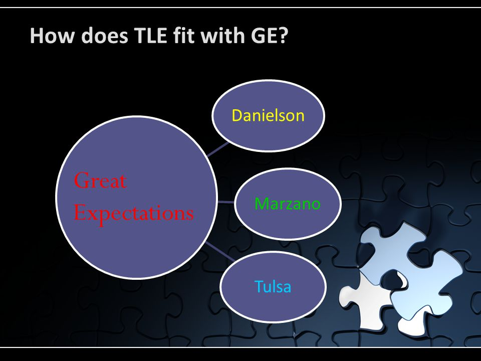 How does TLE fit with GE DanielsonMarzanoTulsa Great Expectations