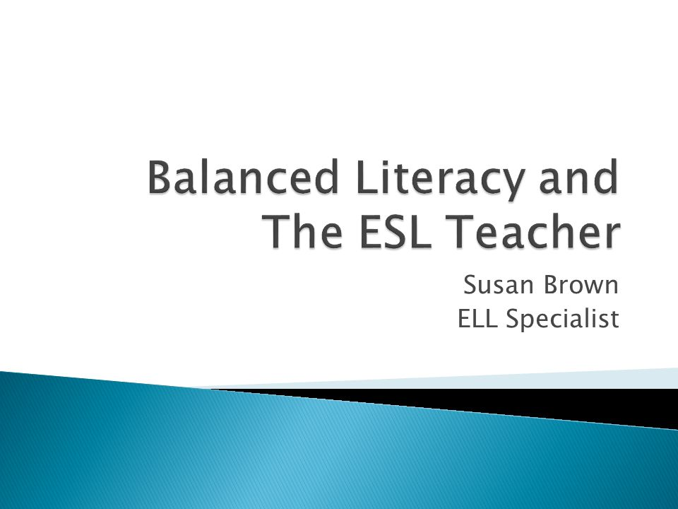  If the ESL teacher is co-teaching, she may do a mini-lesson with the classroom teacher.