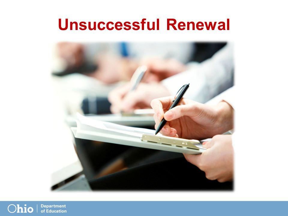 Unsuccessful Renewal