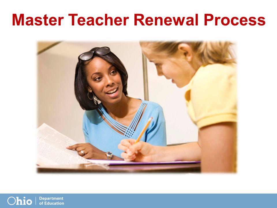 Master Teacher Renewal Process