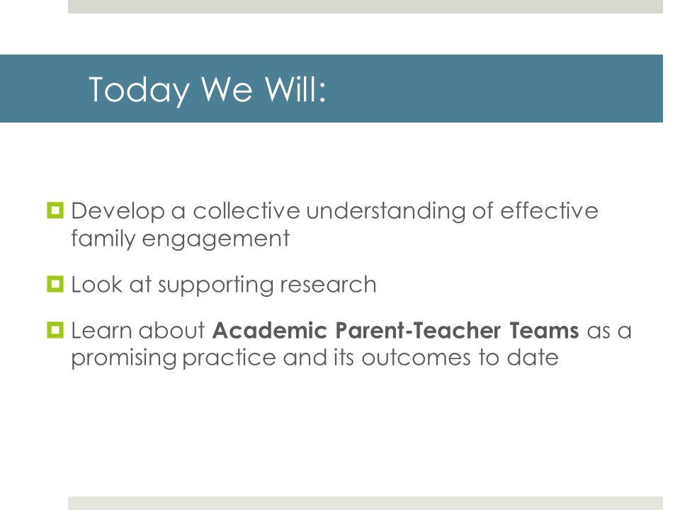 Family Engagement is parent-teacher collaboration to drive student achievement.