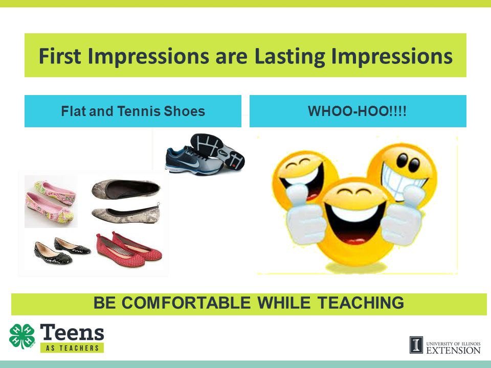 First Impressions are Lasting Impressions Flat and Tennis ShoesWHOO-HOO!!!.