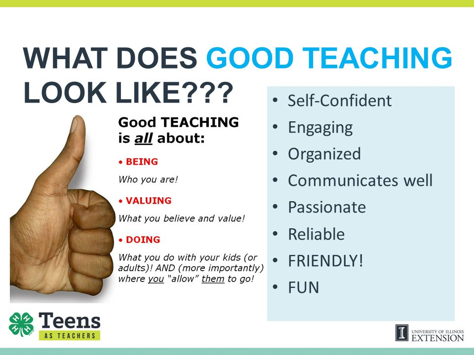 WHAT DOES GOOD TEACHING LOOK LIKE??.