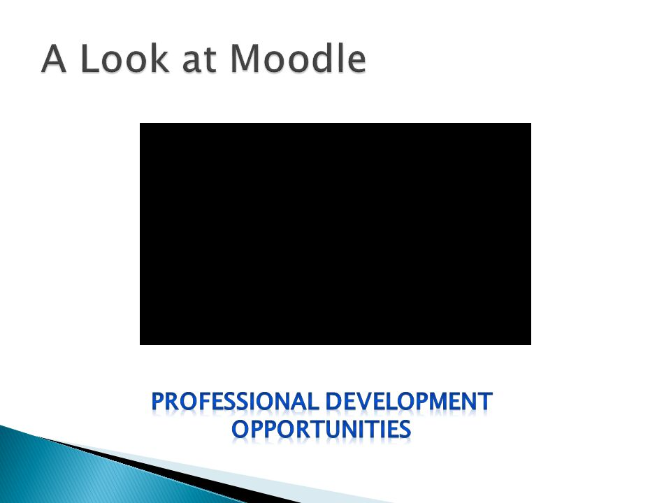  Example: You recently missed a faculty meeting that reviewed how to implement Moodle into the classroom.