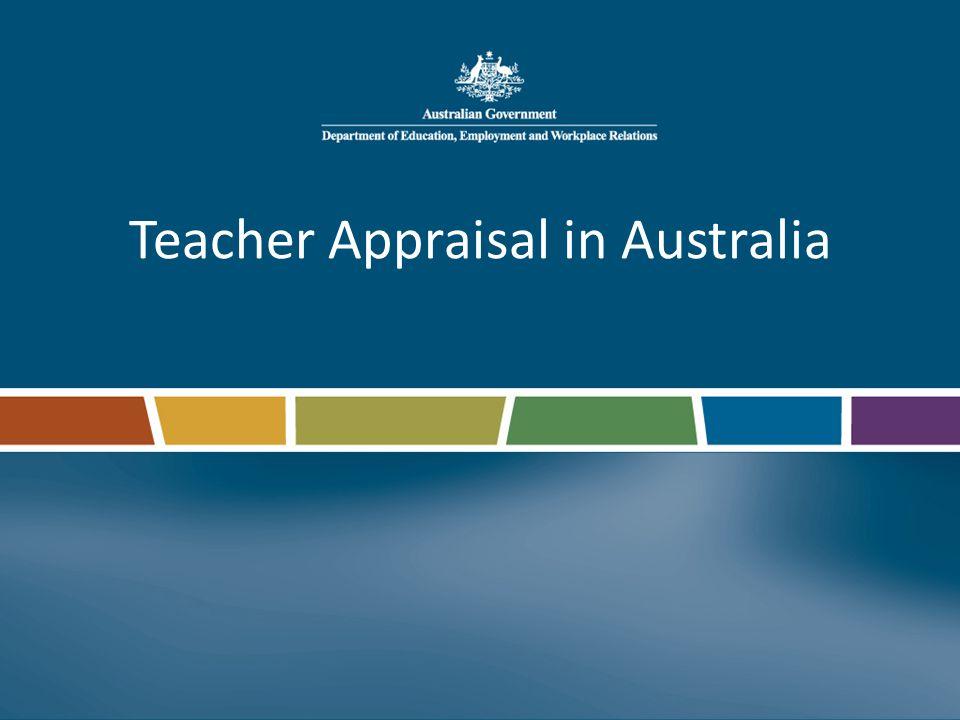 Teacher Appraisal in Australia