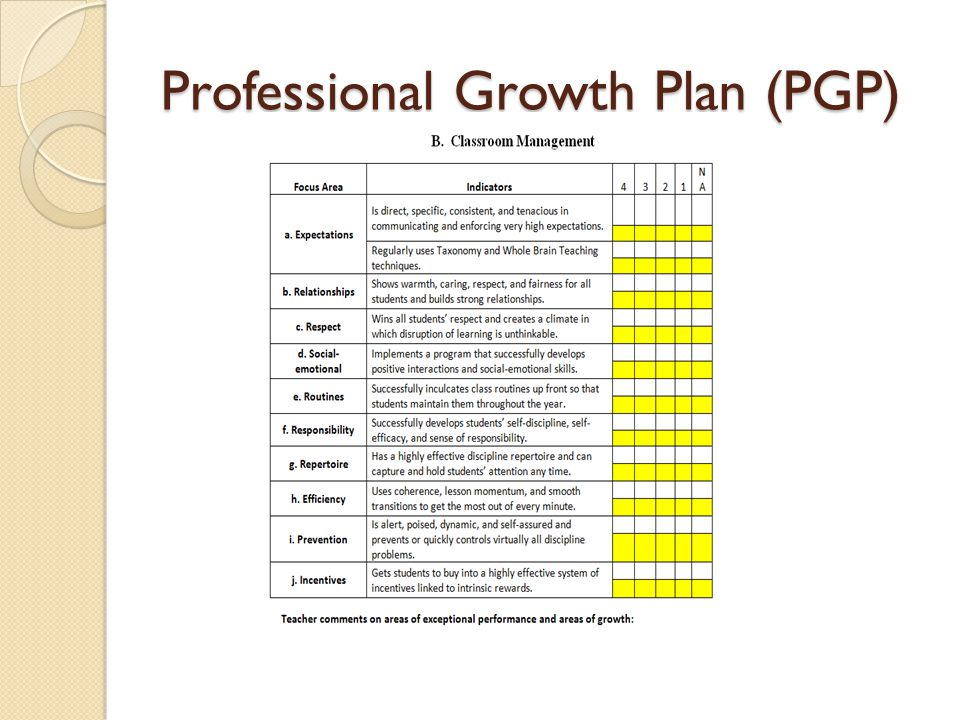 Professional Growth Plan (PGP)