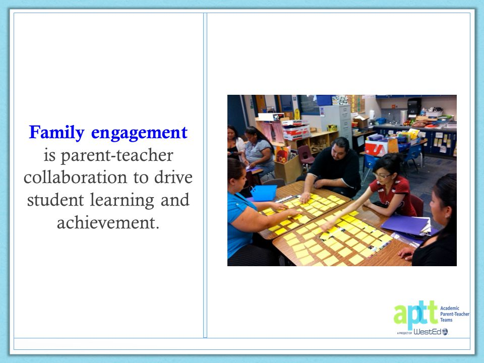 What are you currently doing to engage families at your school.