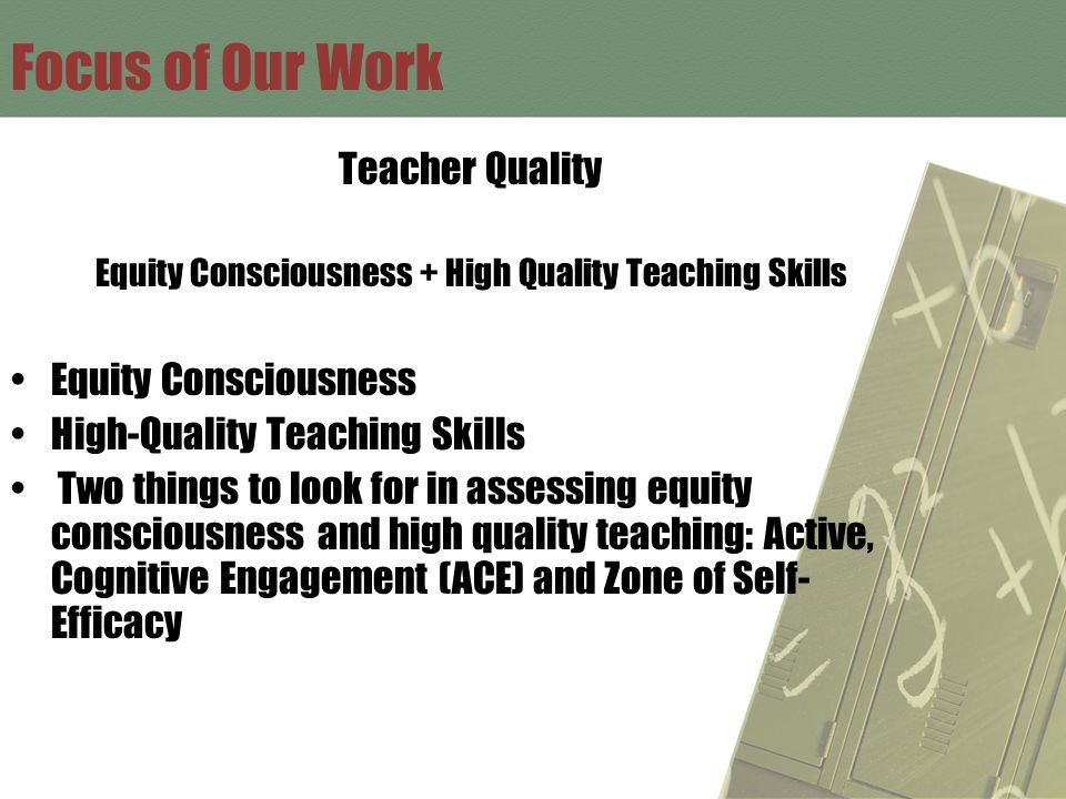 Successful Teachers Have Equity Consciousness High Quality Teaching Skills