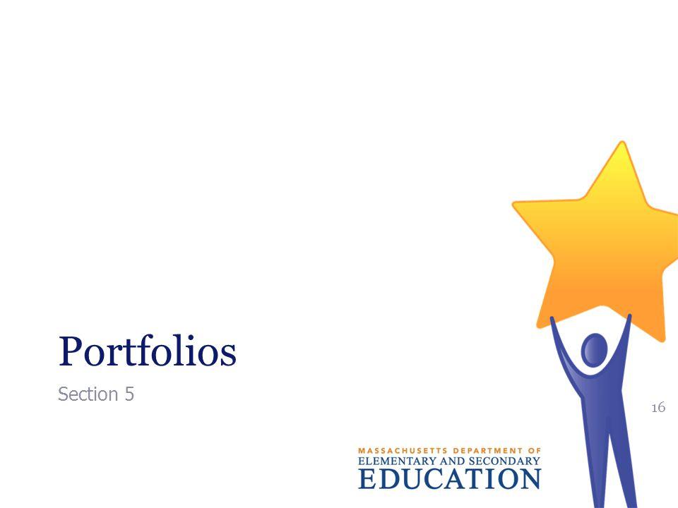 Portfolios Section 5 16