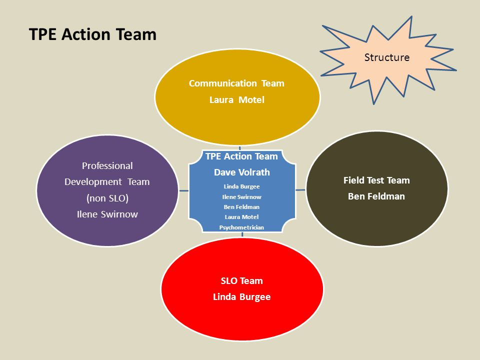 TPE Action Team Structure