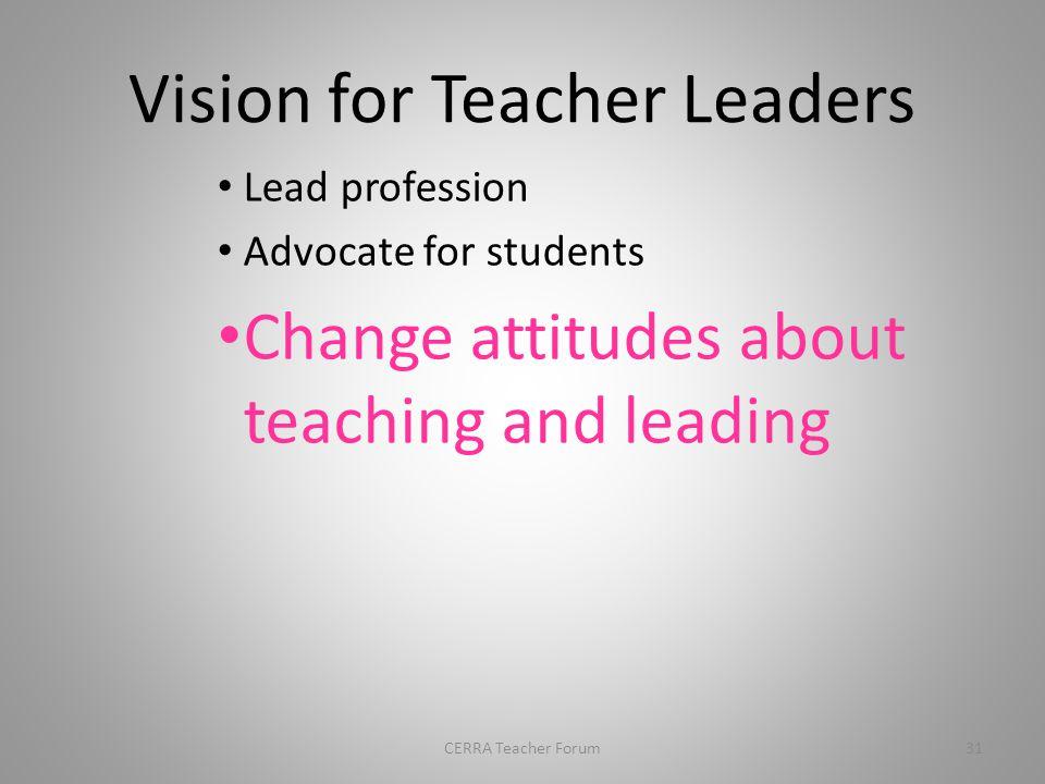 Growth and learning 30CERRA Teacher Forum