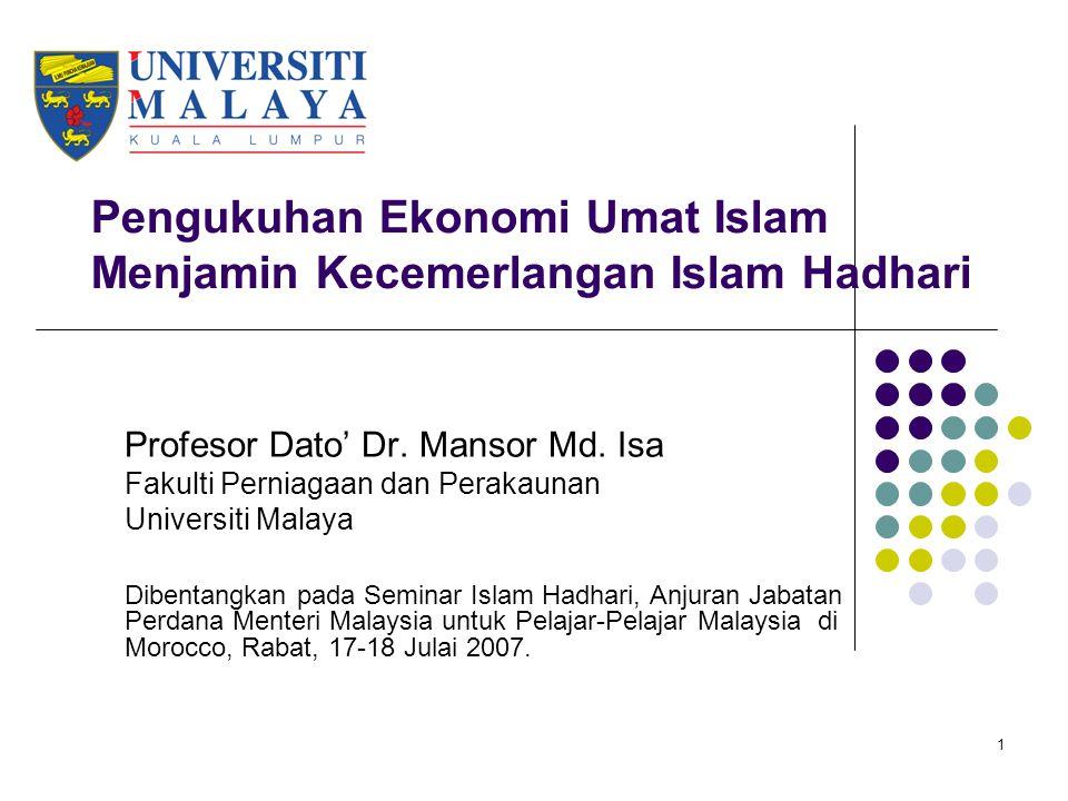 32 Aktiviti berbentuk ekonomi Apa peranan kita sebagai lepasan pengajian agama dalam pembangunan ekonomi umat Islam di Malaysia.