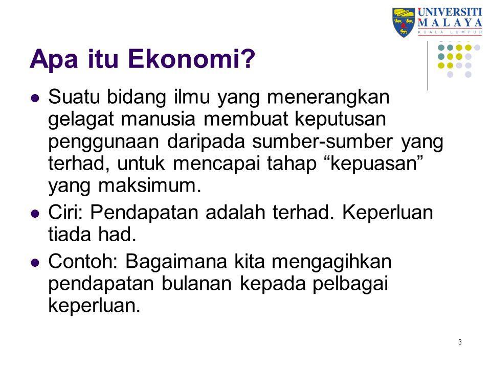 14 Isu sosio-ekonomi pada tahun 60an Kaum terbahagi dengan jelas mengikut pekerjaan yang dilakukan: Melayu: penduduk desa, pertanian tradisi, perikanan tradisi, pendapatan rendah.