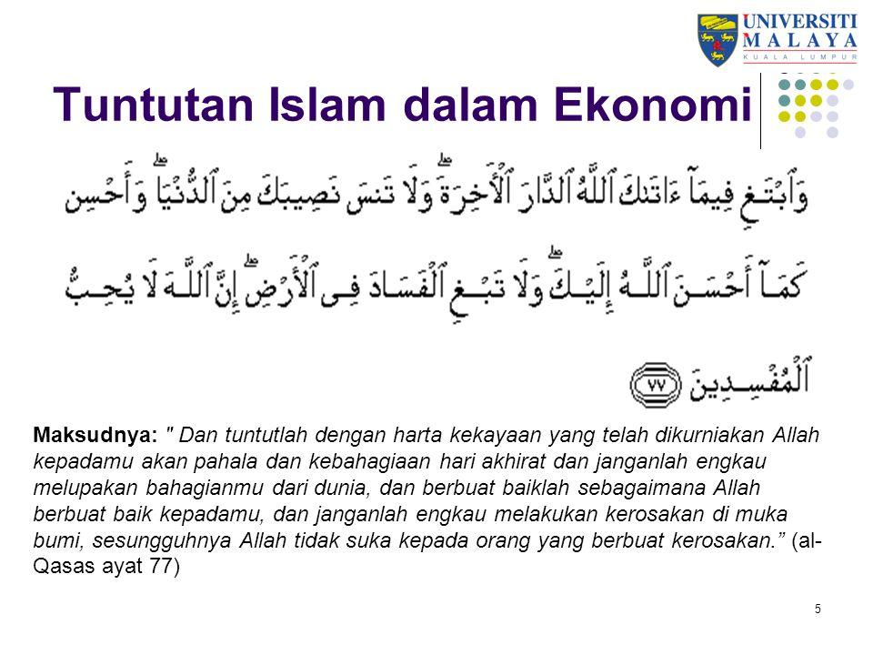 36 Mewujudkan rangkaian ekonomi Bantu ekonomi umat Islam – dalam negeri dan di peringkat antarabangsa.