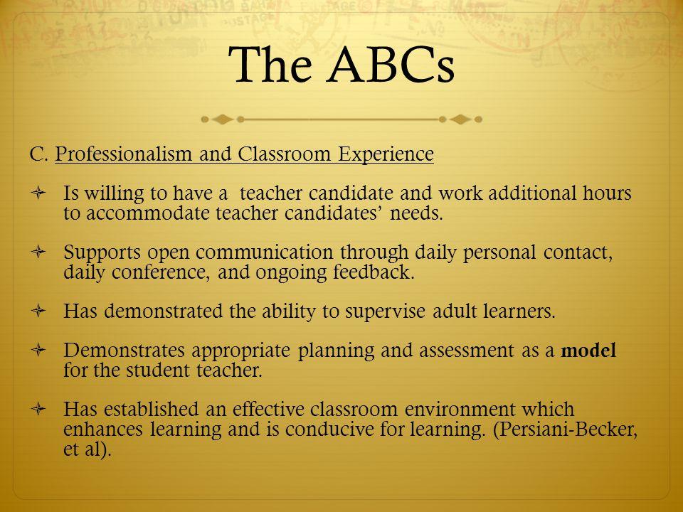 The ABCs C.
