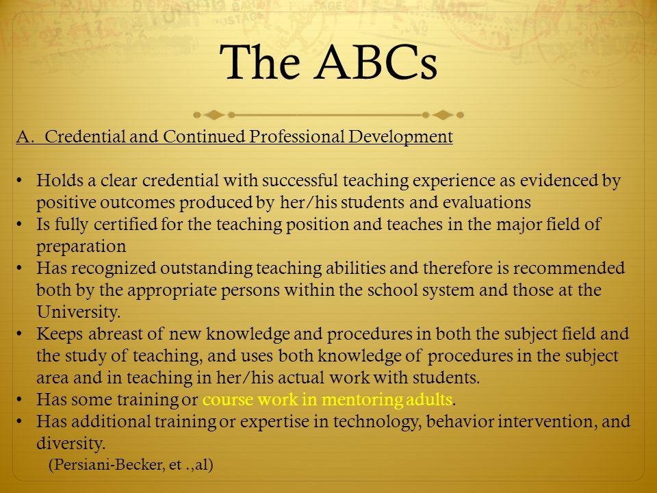 The ABCs A.