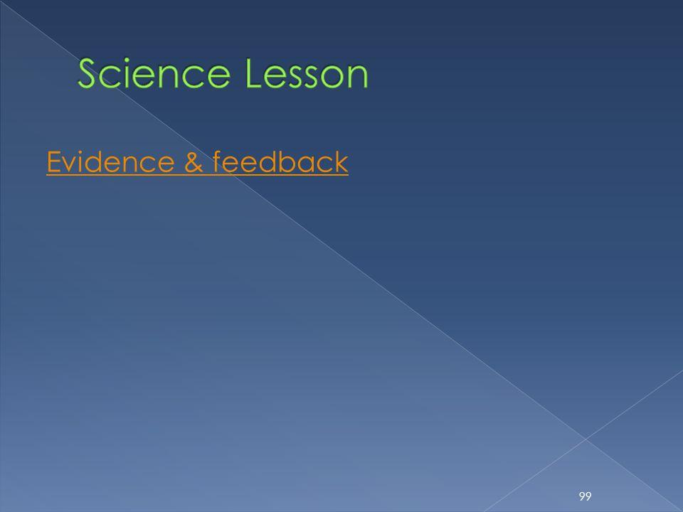 Evidence & feedback 99