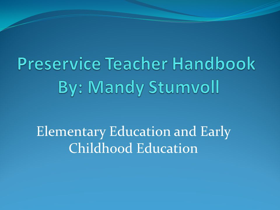 Elementary Education and Early Childhood Education