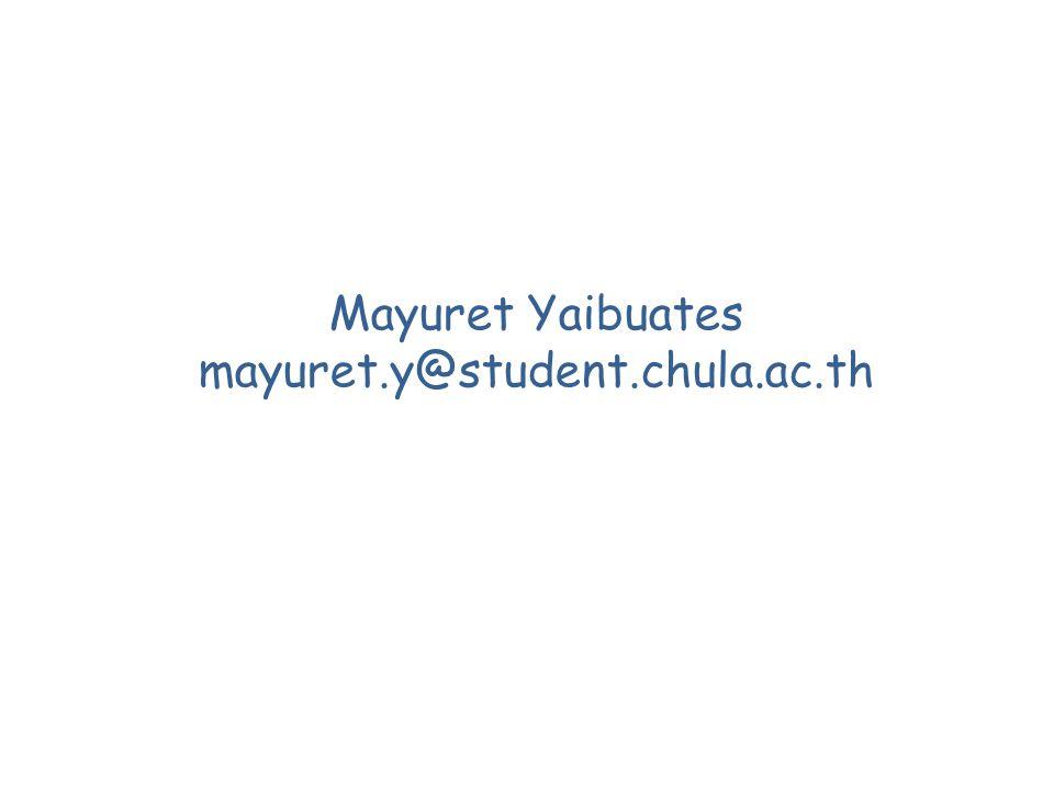 Mayuret Yaibuates mayuret.y@student.chula.ac.th