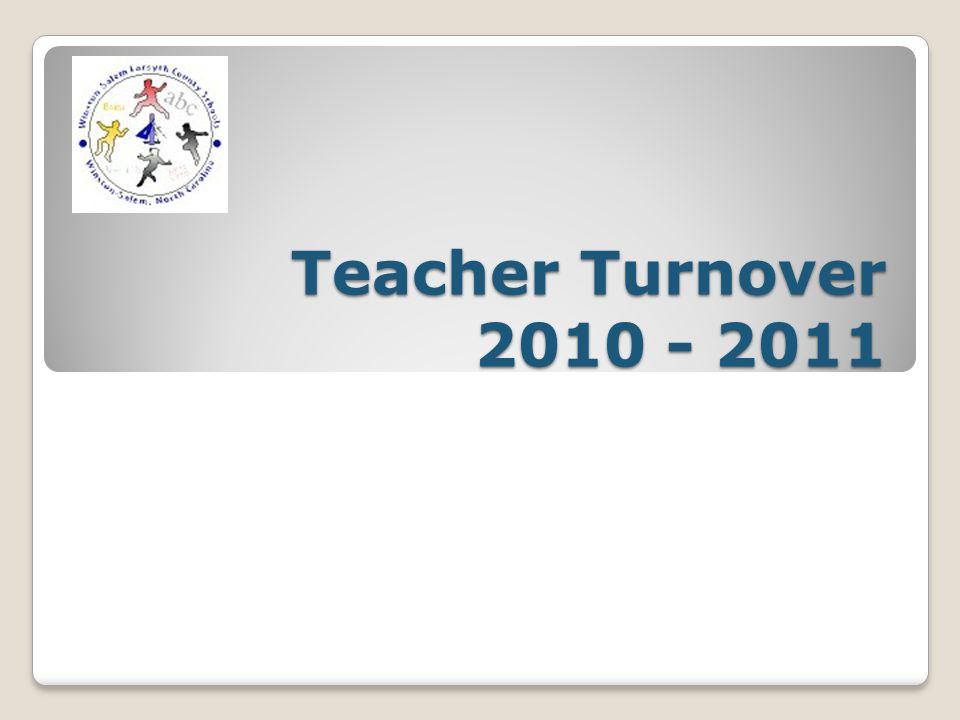 Teacher Turnover 2010 - 2011