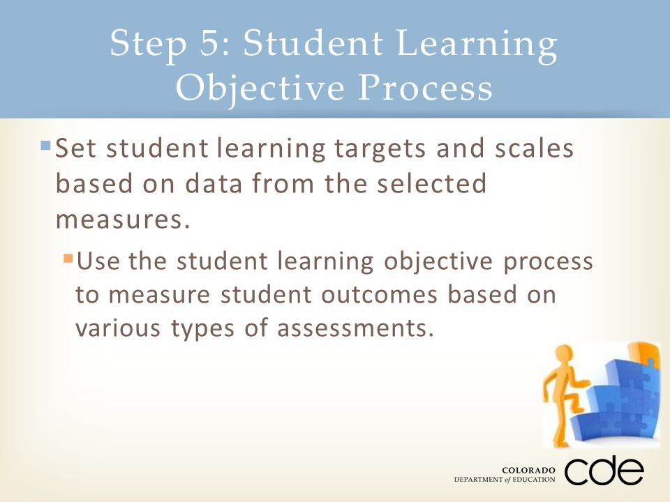  Set student learning targets and scales based on data from the selected measures.