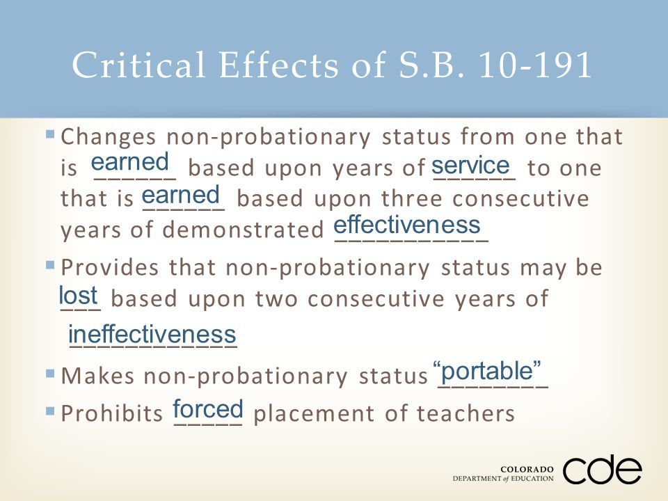 Critical Effects of S.B.