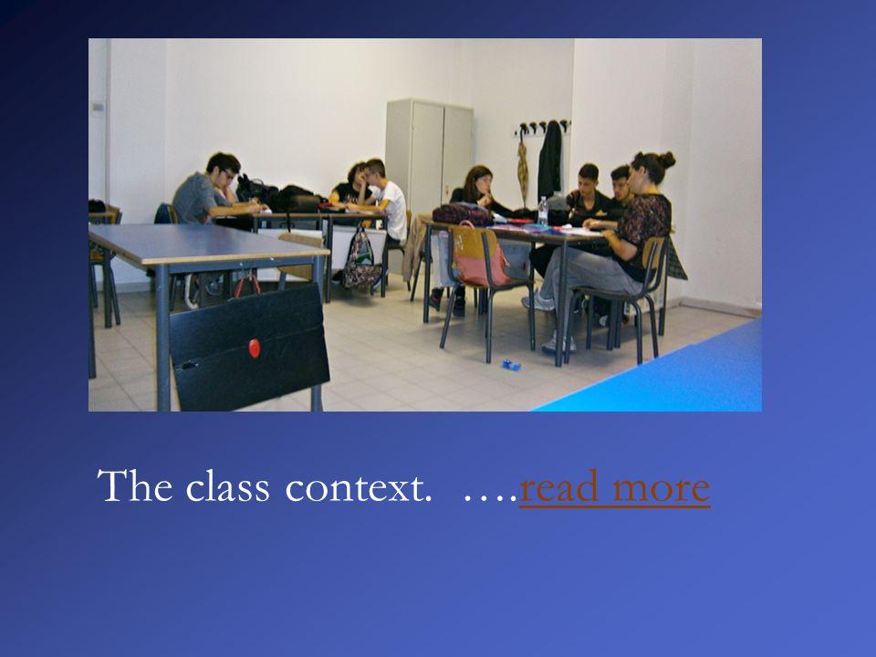 The class context. ….read moreread more